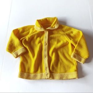 Other - Retro style cardigan yellow knitted